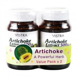 Vistra Artichoke Extract 500 mg. 30 capsules วิสทร้า อาร์ติโชก 500 มก. 30 แคปซูล