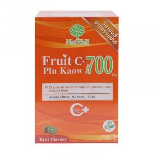 NatWell Fruit C+ Plu Kaow แนทเวลล์ ฟรุตซีผสมพลูคาว รสกีวี่ 10 ซอง