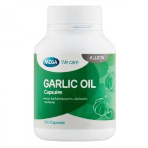 Mega We Care Garlic Oil 100 เเคปซูล น้ำมันกระเทียม