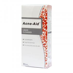 Acne Aid Liquid Cleanser 100 ml ผลิตภัณฑ์ทำความสะอาดผิวหน้าสำหรับผิวมัน ( Acne-Aid สีแดง)