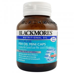 Blackmores  Fish Oil Mini Caps น้ำมันปลา เม็ดเล็ก ไร้กลิ่นคาว 60 แคปซูล (บำรุงสมอง)