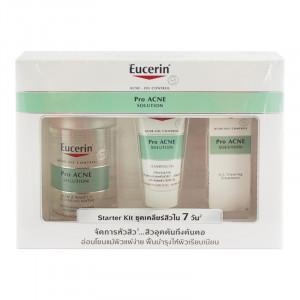Eucerin Pro Acne Starter Kit/Set เซ็ททำความสะอาดผิวหน้า และบำรุงผิว