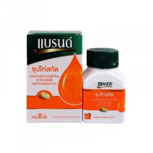 Brand'S with Ginko Biloba Extract And Panax Ginseng 30 tablets แบรนด์ เม็ดซุปไก่สกัดผสมสารสกัดจาดใบแปะก๊วยและโสม 30 เม็ด