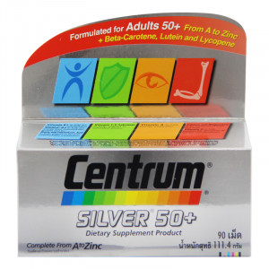 Centrum Silver 50 Plus 90 tablets แคลเทรต ซิลเวอร์ 50 พลัส 90 เม็ด