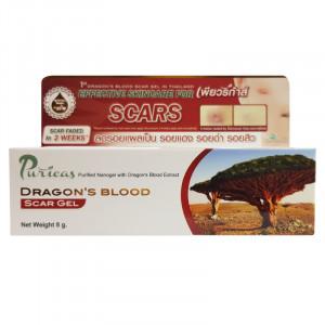Puricas Dragon Blood Scar Gel 8 g. เพียวริก้าส์ ดราก้อนบลัด ลบรอยแผลเป็น รอยแดง