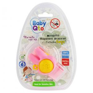 Baby Qto Mosquito Repellnent Bracelet เบบี้ คิวโต สายรัดข้อมือกันยุง (ลายกระต่าย)
