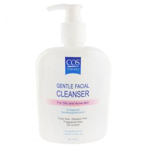 Cos Gentle Facial Cleanser For Oily And Acne Skin 500 ml.  + แถมฟรี ผลิตภัณฑ์ Cos ขนาดทดลอง 3 ซอง (คละสูตร สุ่มโดยร้านค้า)