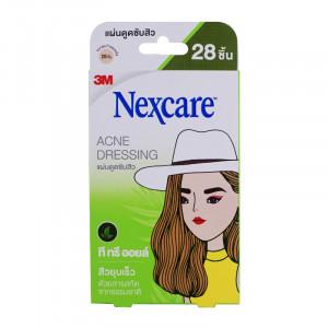 3M Nexcare Acne Dressing 3 เอ็ม เน็กซ์แคร์ แผ่นดูดซับสิว ที ทรี ออยล์ 28 ชิ้น