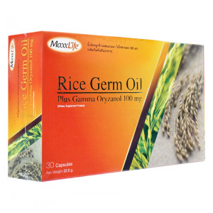 Maxxlife Rice Germ Oil 30 capsules ไรซ์ เจิม ออยล์ น้ำมันจมูกข้าว 30 แคปซูล